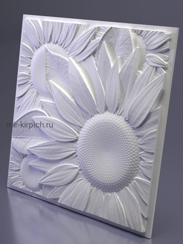 Гипсовая 3D панель Sunflower