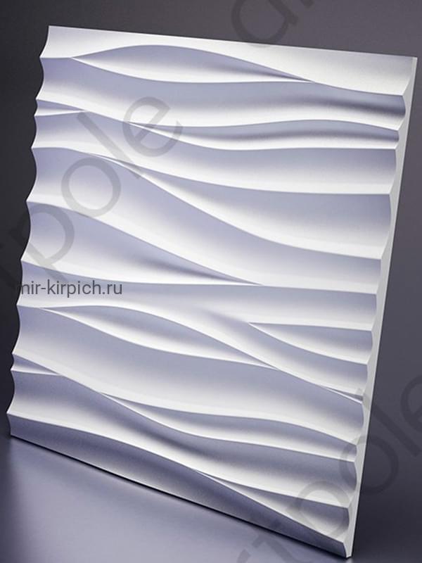 Гипсовая 3D панель Silk + Led