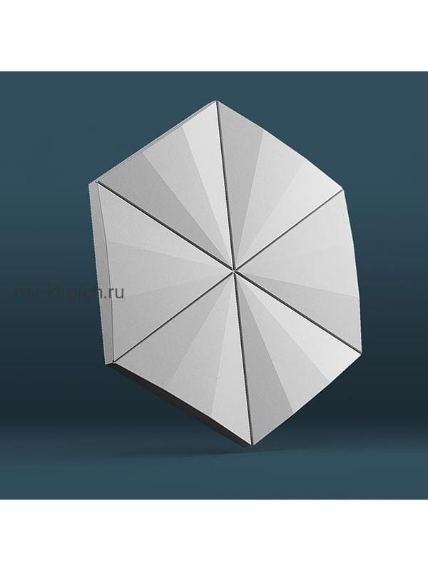 Гипсовая 3D панель Гексагон Техно