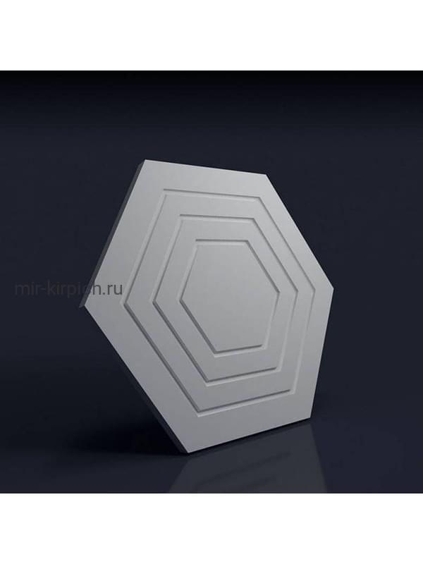 Гипсовая 3D панель Шестигранник рельефный
