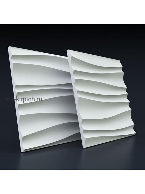 Гипсовая 3D панель Волна двойная острая