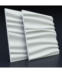 Гипсовая 3D панель Волна Двойная мягкая
