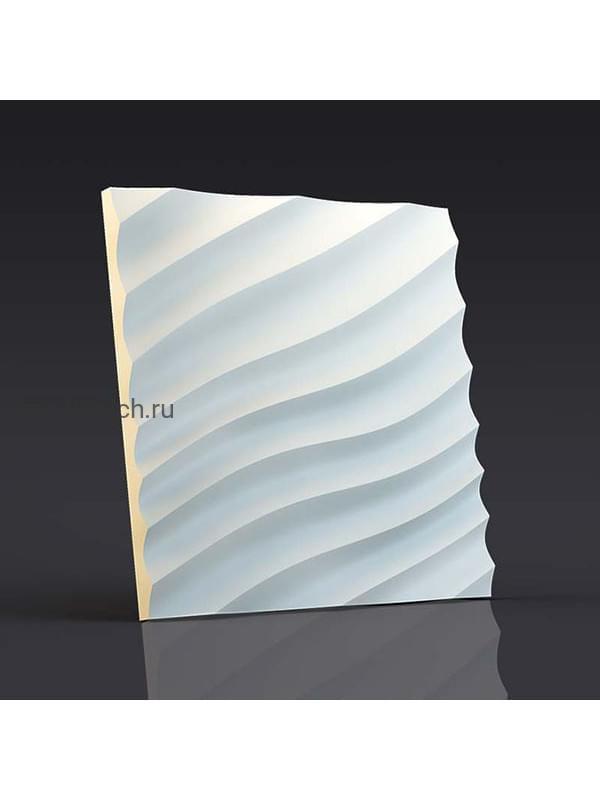 Гипсовая 3D панель Волна диагональная мелкая