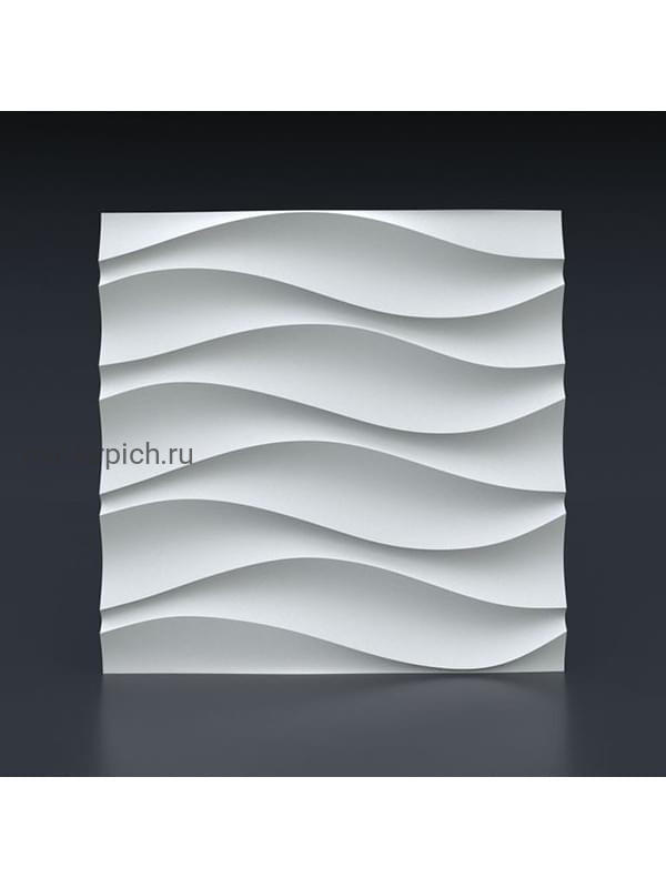 Гипсовая 3D панель Волна симметричная