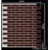 Гибкий кирпич на сетке Меркурий (с защитной пленкой)