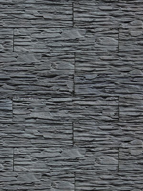 Камень декоративный серого цвета фото