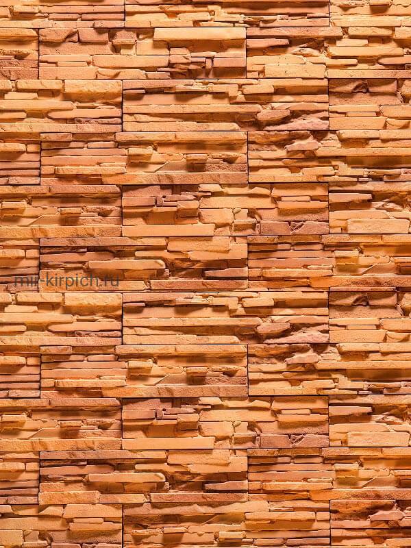 Декоративный камень Сицилия Рыжая