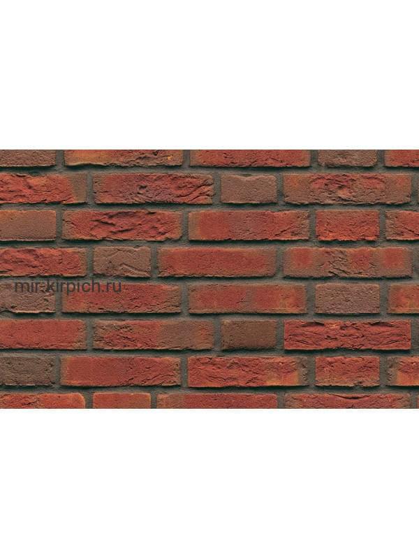 Плитка ручной формовки Muhr Nr 6, Niederhein rot geflammt, 215*65*22-25 мм
