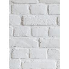 Белый гипсовый кирпич в стиле Loft White