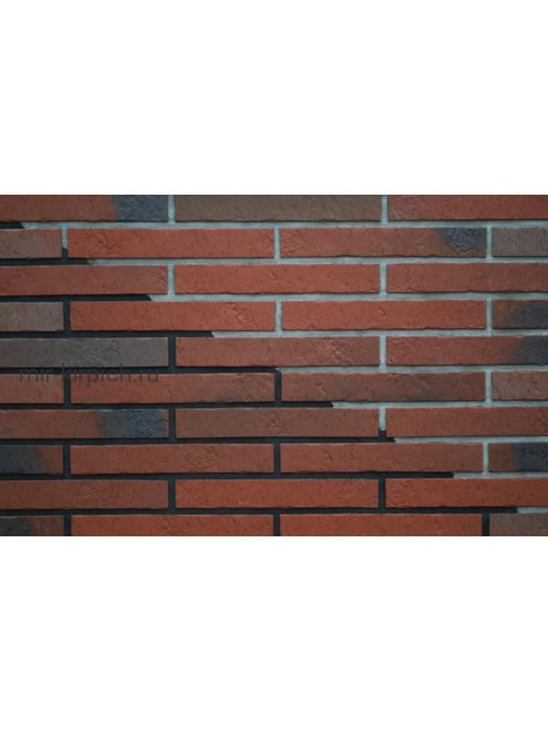 Клинкерная плитка ABC Teuto Rot-bunt Kohlebrand Schieferstruktur, 365*71*10 мм