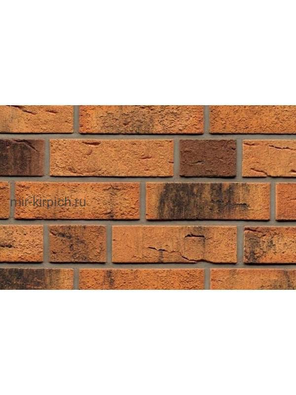 Клинкерная облицовочная плитка ручной формовки Feldhaus Klinker R286 nolani viva rustico carbo, 240*71*14 мм