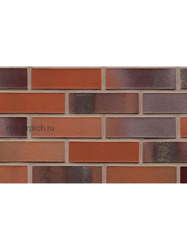 Клинкерная облицовочная плитка ручной формовки Feldhaus Klinker R560 carbona carmesi colori , 240*71*14 мм