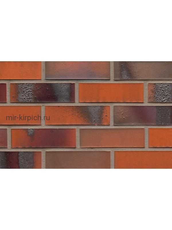 Клинкерная облицовочная плитка ручной формовки Feldhaus Klinker R562 carbona terreno bluastro, 240*71*14 мм