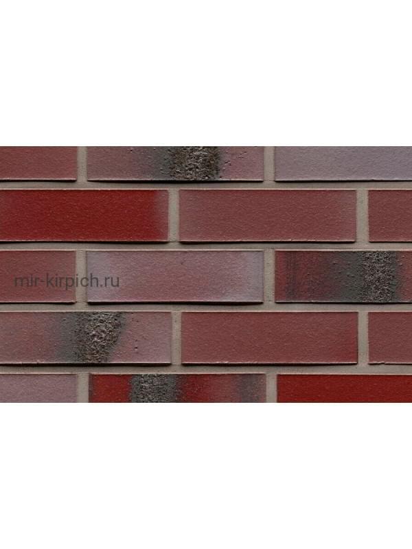 Клинкерная облицовочная плитка ручной формовки Feldhaus Klinker R563 carbona ardor rutila, 240*71*14 мм