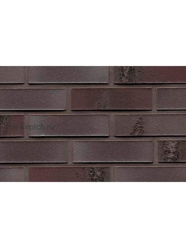 Клинкерная облицовочная плитка ручной формовки Feldhaus Klinker R565 carbona geo ferrum, 240*71*14 мм