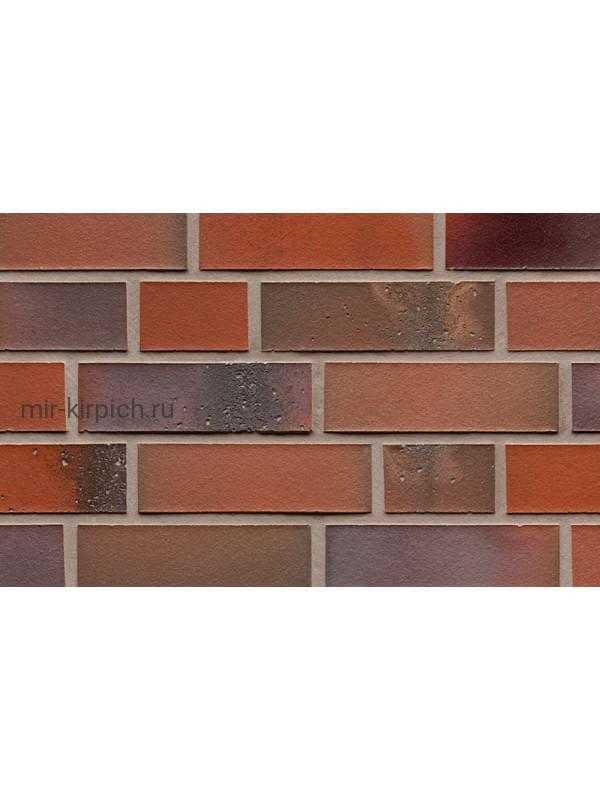 Клинкерная облицовочная плитка ручной формовки Feldhaus Klinker R580 salina carmesi colori, 240*71*14 мм