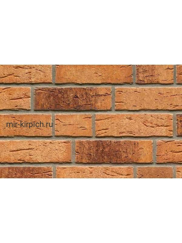 Клинкерная облицовочная плитка ручной формовки Feldhaus Klinker R665 sintra sabioso binaro, 215*65*14мм