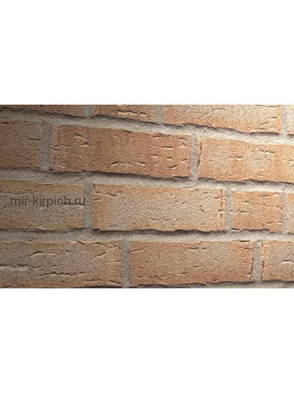 Клинкерная облицовочная плитка ручной формовки Feldhaus Klinker R681 sintra terracotta bario, 215*65*14мм