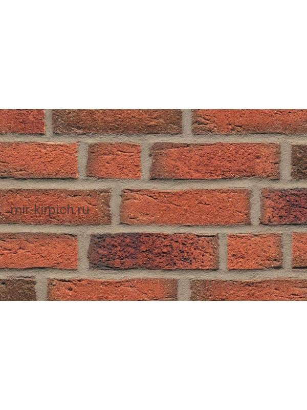 Клинкерная облицовочная плитка ручной формовки Feldhaus Klinker R687 sintra terracotta linguro, 215*65*14мм