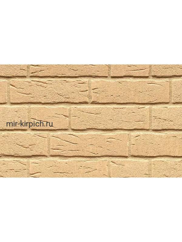 Клинкерная облицовочная плитка ручной формовки Feldhaus Klinker R692 sintra crema, 215*65*14мм