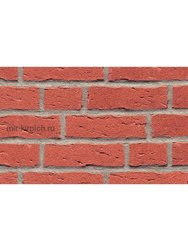 Клинкерная облицовочная плитка ручной формовки Feldhaus Klinker R694 sintra carmesi, 215*65*14мм