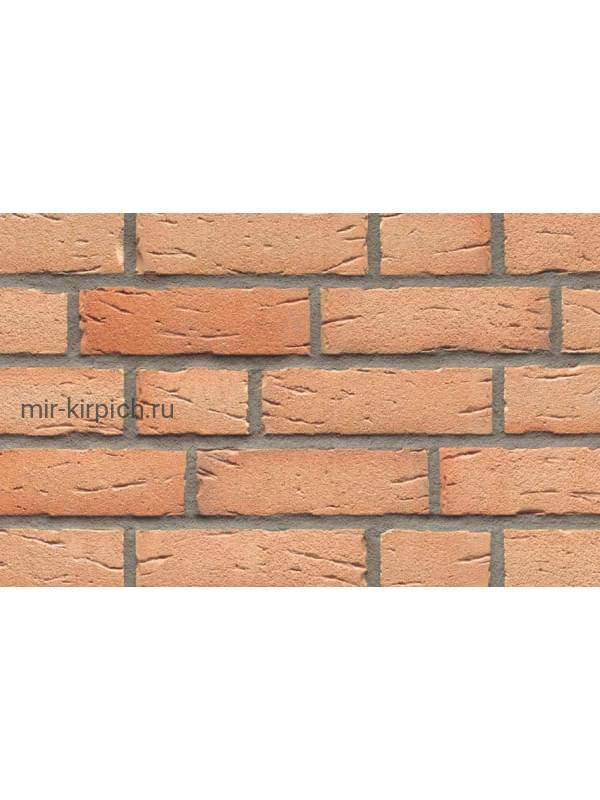 Клинкерная облицовочная плитка ручной формовки Feldhaus Klinker R696 sintra crema duna, 215*65*14мм