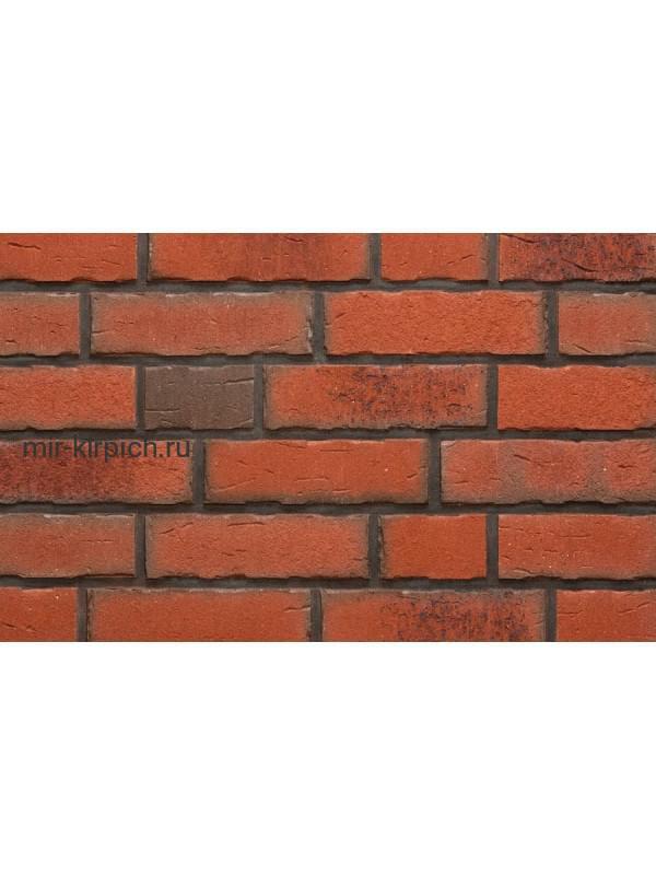 Клинкерная облицовочная плитка ручной формовки Feldhaus Klinker R698 sintra terracotta bario, 215*65*14мм