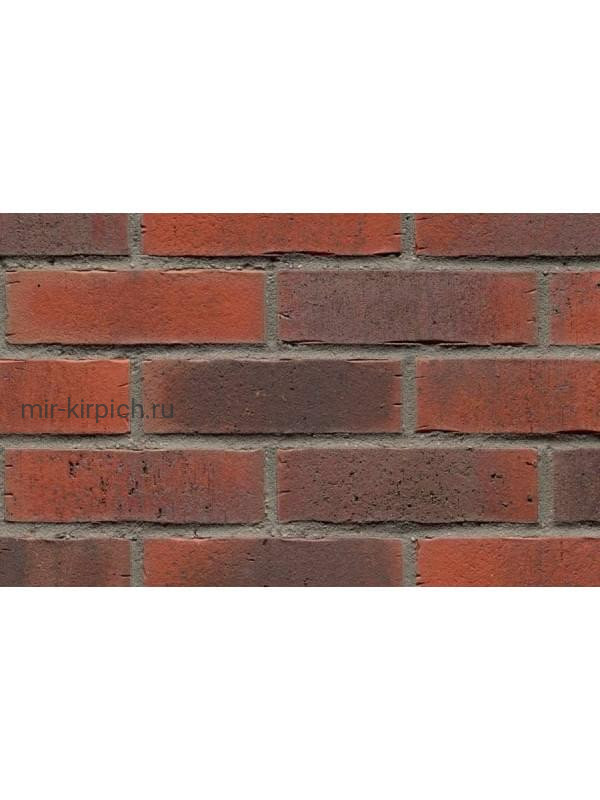 Клинкерная облицовочная плитка ручной формовки Feldhaus Klinker R743 vascu carmesi flores, 240*71*14 мм