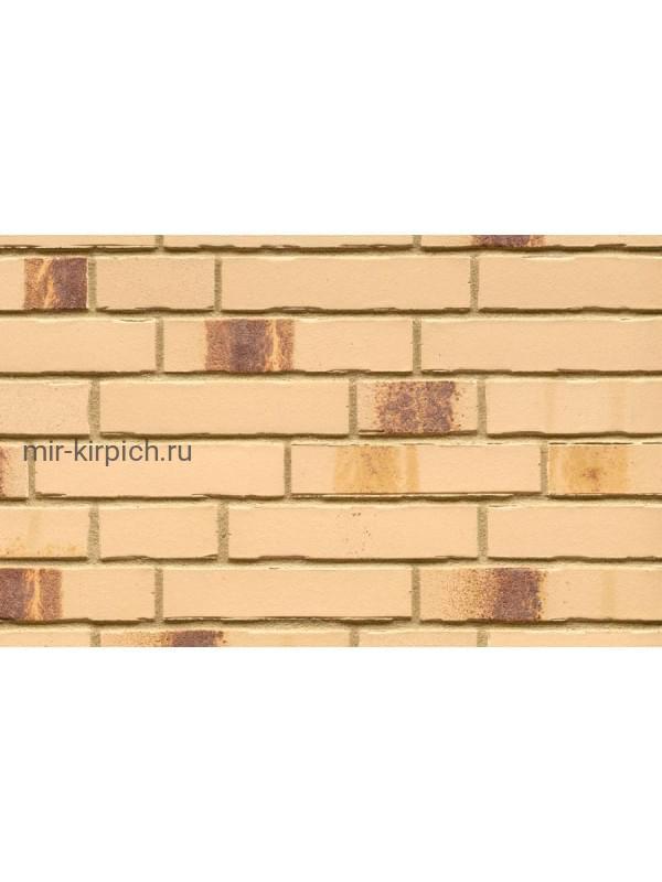 Клинкерная облицовочная плитка ручной формовки Feldhaus Klinker R970 bacco crema maron, 240*71*14 мм