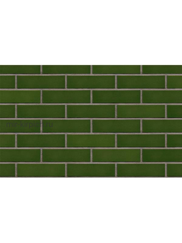 Клинкерная облицовочная плитка King Klinker Free Art green valley (24), 250*65*10 мм