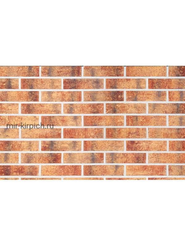 Клинкерная облицовочная плитка King Klinker Old Castle Rainbow brick (HF15) под старину NF10, 240*71*10 мм