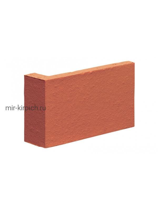 Угловая клинкерная облицовочная плитка (остроугольная) King Klinker Dream House 01 Ruby red, 35*65*120*10 мм