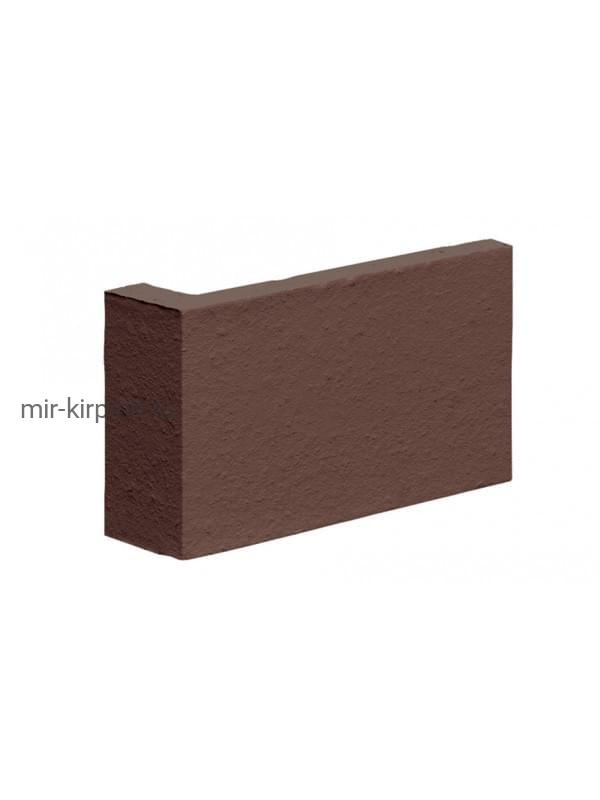 Угловая клинкерная облицовочная плитка (остроугольная) King Klinker Dream House 03 Natural brown, 35*65*120*10 мм