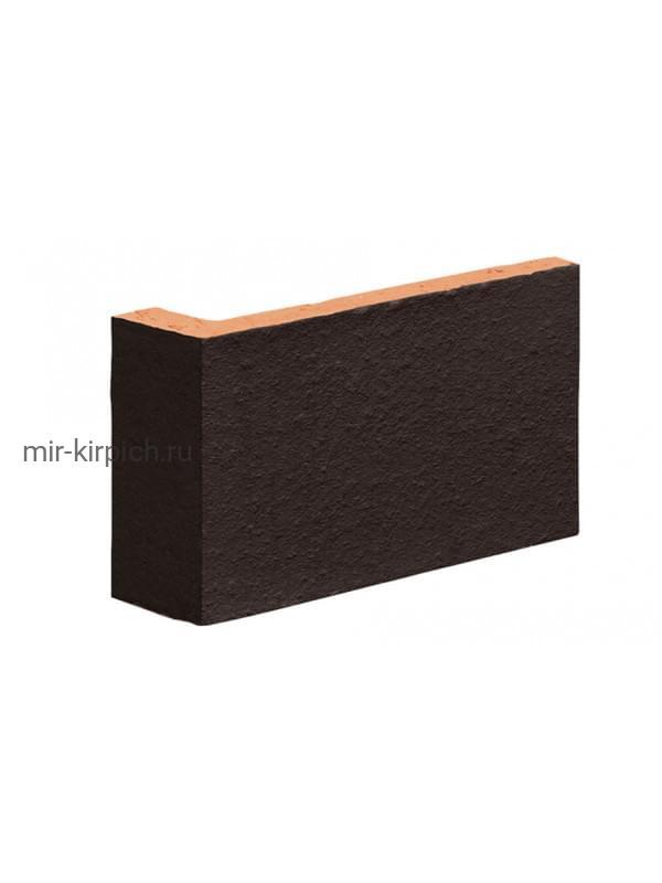 Угловая клинкерная облицовочная плитка (остроугольная) King Klinker Dream House 18 Volcanic black, 35*65*120*10 мм