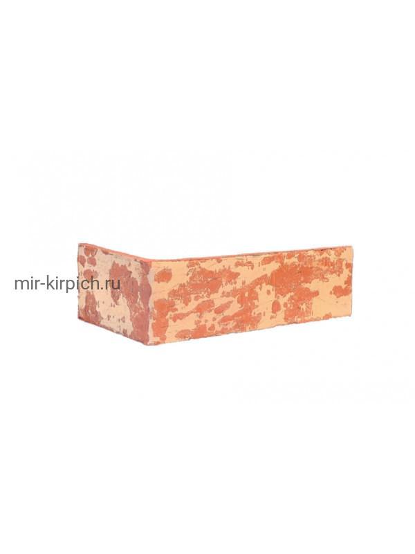 Угловая клинкерная облицовочная плитка King Klinker Old Castle Alhambra sun (HF04) под старину NF10, 240*71*115*10 мм