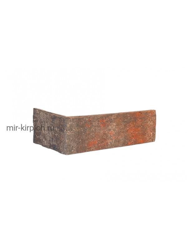 Угловая клинкерная облицовочная плитка King Klinker Old Castle Bastille wall (HF16) под старину NF10, 240*71*115*10 мм
