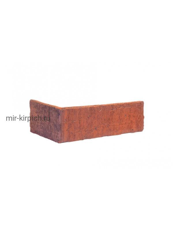 Угловая клинкерная облицовочная плитка King Klinker Old Castle Brick tower (HF03) под старину NF10, 240*71*115*10 мм