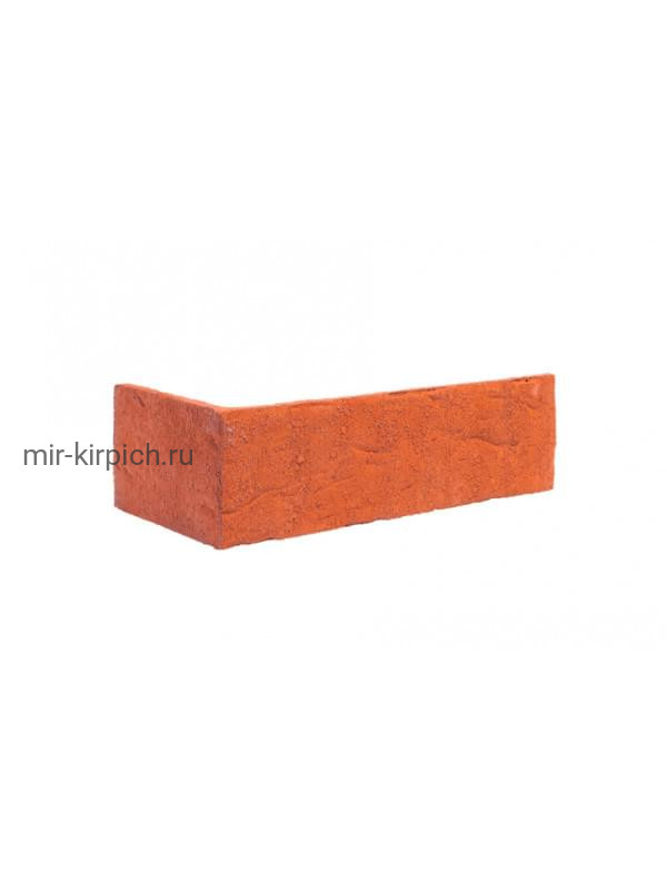 Угловая клинкерная облицовочная плитка King Klinker Old Castle Marrakesh dust (HF01) под старину NF10, 240*71*115*10 мм
