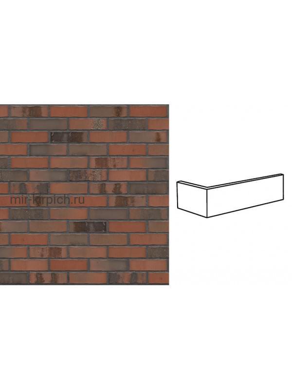 Угловая клинкерная облицовочная плитка King Klinker Old Castle Old fort (HF51), 240*71*115*10 мм
