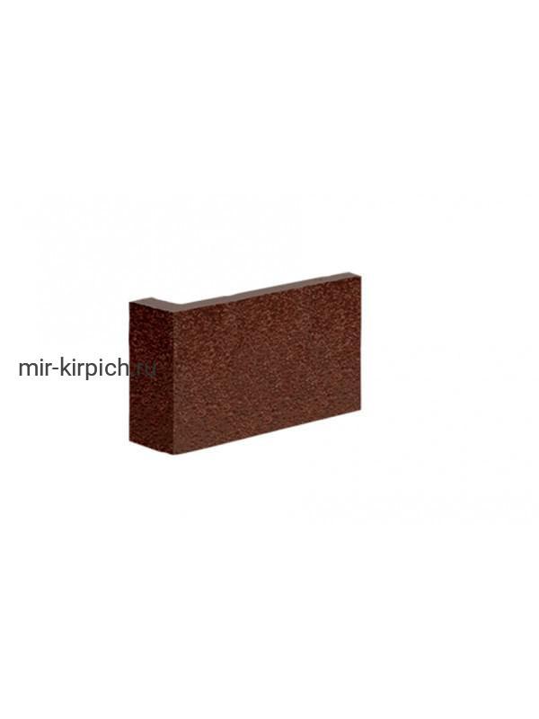 Угловая остроугольная клинкерная облицовочная плитка King Klinker Free Art коричневый (02), 35*65*120*10 мм