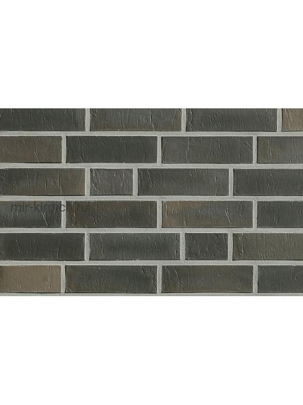 Клинкерная облицовочная плитка Roben Chelsea Basalt-bunt гладкая NF14, 240*14*71 мм