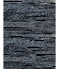 Фасадный облицовочный натуральный камень Shiny Black 42N