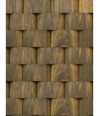 Деревянная панель из дуба Плетенка табачная