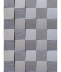 Деревянная панель из дуба Квадратики серебро